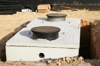 new septic tank being installed in Tuscaloosa